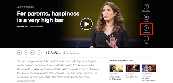 How Do I Download A Ted Talk From The Website Ted Blog